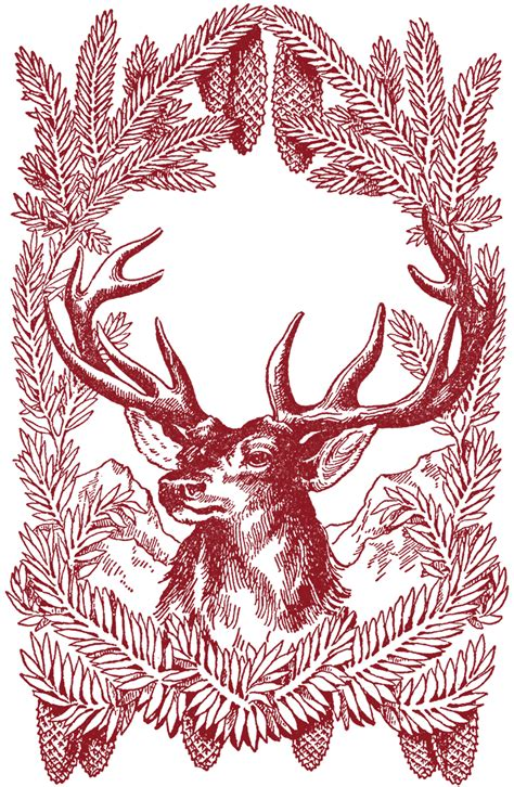 large xmas jpeg free vintage pictures deer the graphics