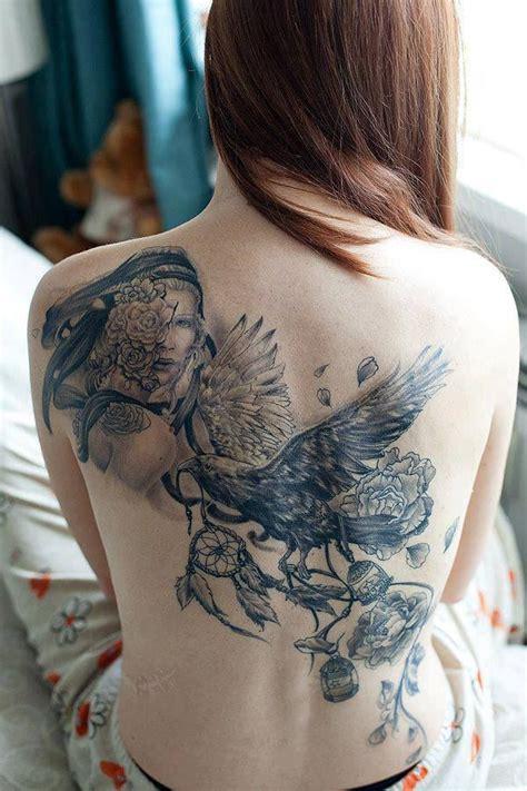 tattoo placement and body flow beautiful female backpiece tattoo tattoo ideas