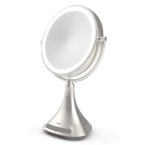 Portable Vanity Mirror by Ihome Vanity Mirror Portable Bluetooth Speaker Gadgetsin