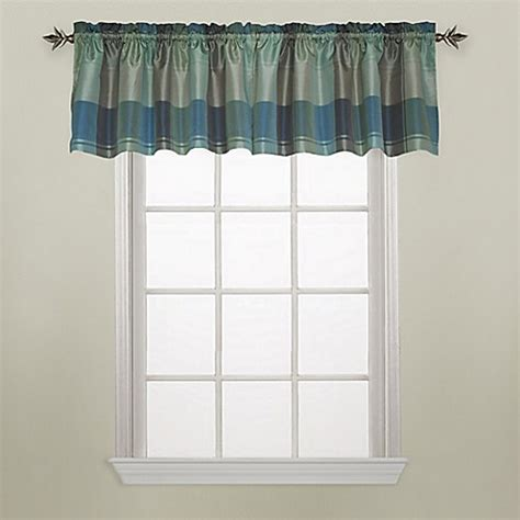 blue and green plaid curtains buy plaid window curtain valance in blue green from bed