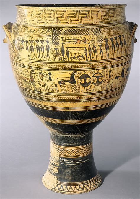 Greek Vase Painting Styles 900 600 Bce Geometric And Orientalizing Periods