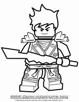 Ninjago Kai KX In Elemental Robe Coloring Page | H & M Coloring Pages