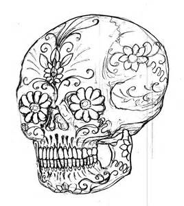 Sugar Skull Coloring Pages Printable sketch template