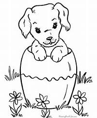 Puppy Coloring Sheets 052