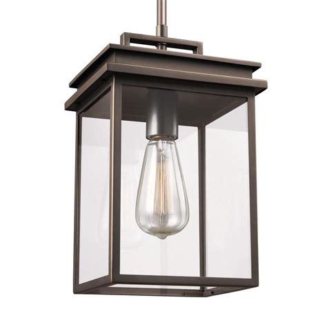 in outdoor hanging light feiss glenview 1 light antique bronze outdoor hanging
