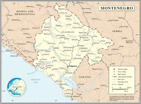 a map of the file montenegro map png wikimedia commons