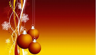 Yellow and Red Christmas Ornament