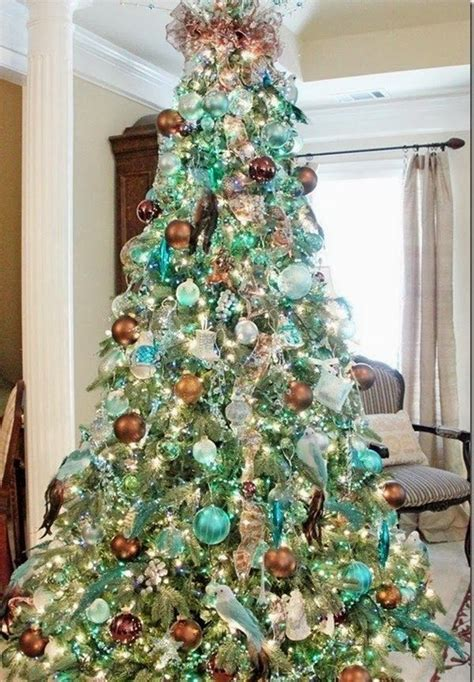 christmas trees tourquoise and silver 69 best trees images on trees time and decorated