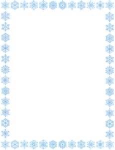 Snowflake border page clip art download