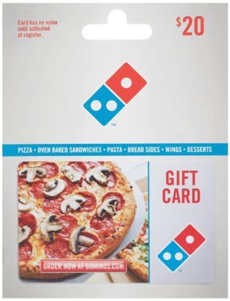 Gift Card Dominos - domino s pizza gift card 20 shop giftcards