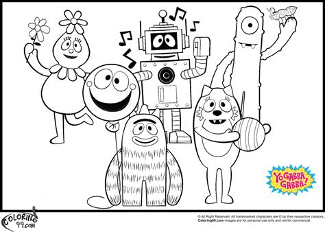 printable coloring pages yo gabba gabba yo gabba gabba coloring pages team colors
