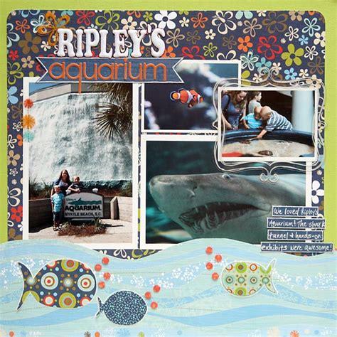 scrapbook layout aquarium layout ripley s aquarium
