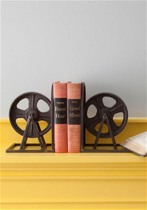 modcloth home decor film industrial bookends mod retro vintage decor accessories modcloth com