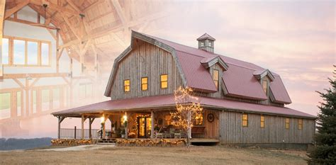 Wood Horse Barn Homes Garages Loft Living Sand Creek Barn Home Plans Canada
