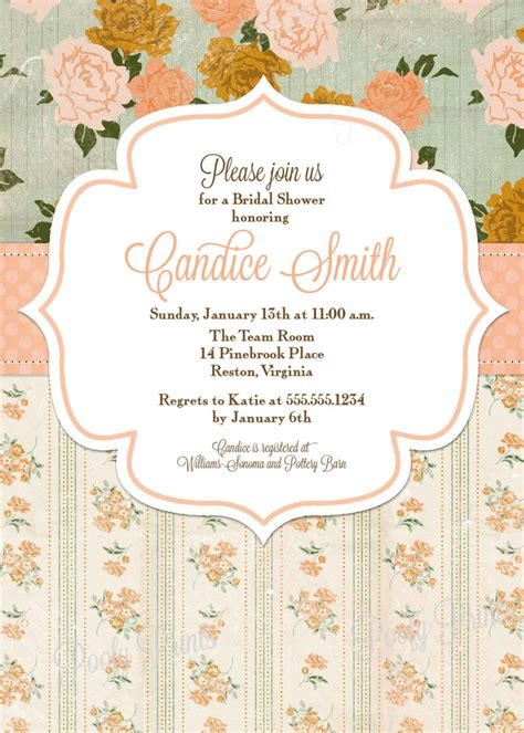 shabby chic wedding shower invites 104 best tarjeter 237 a shabby chic images on