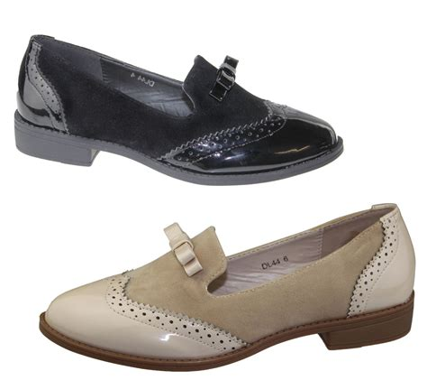 Flat Shoes Vintage Ad F02 Murahmodis womens slip on shoes patent suede flat oxford loafers brogues pumps size ebay