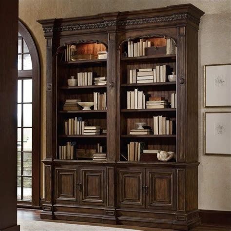 Hooker Furniture Adagio Double Bookcase Without Ladder And Bookcase Ladder And Rail