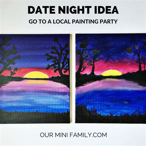 family paint nite island date idea go to a local painting our mini