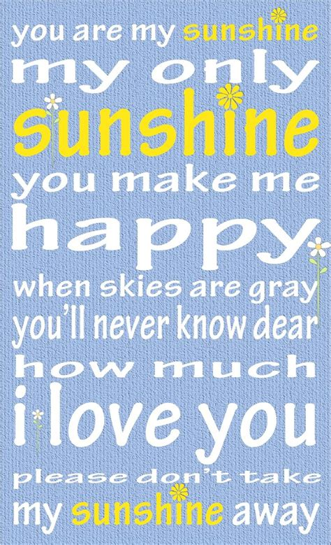 summer c song you are my sunshine with lyrics and 39 best images about chd awareness on pinterest mean to