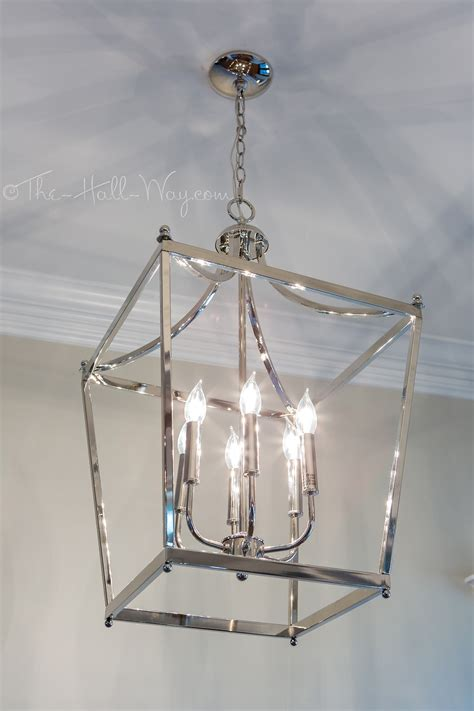 does the pendant light and the chandelier over the table new lighting the hall way