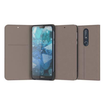 official nokia  entertainment flip wallet case grey