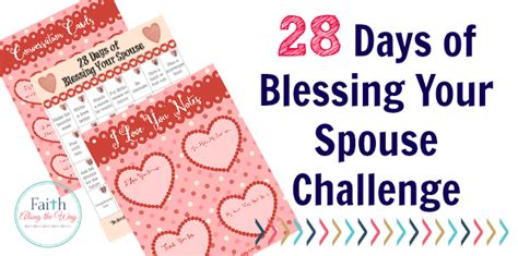 the blessing challenge 28 days of blessing your spouse challenge
