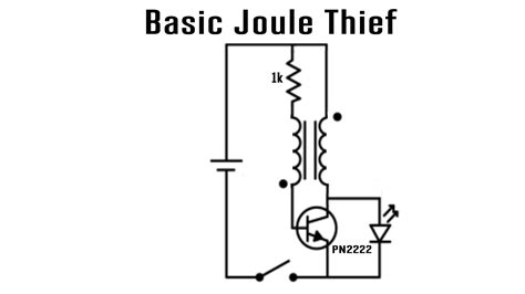 joule thief charging capacitor schematic for capacitor get free image about wiring diagram