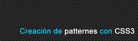 css3 pattern in web crear patterns con css3