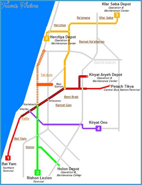 jerusalem light rail map tel aviv metro map travelsfinders