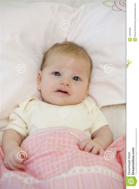 how to make a baby in bed cute baby in bed stock image image of caucasian life