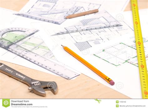 floor plan tools tools and floor plans stock photo image 1753140