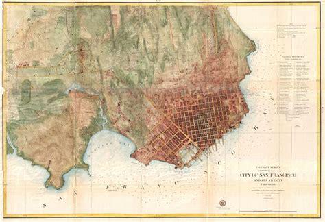 san francisco historic map san francisco map