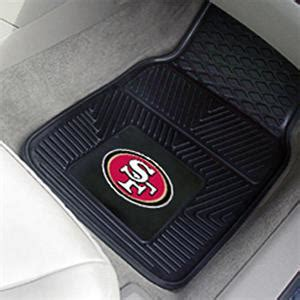 fan mats san francisco 49ers vinyl car mats set fan gear