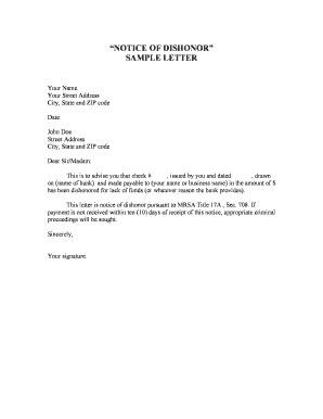Demand Letter With Notice Of Dishonor nsf check demand letter docoments ojazlink