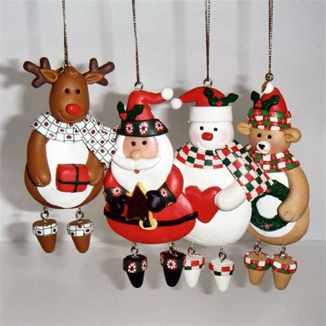 Handmade Decorations Ideas - figures tree ornaments handmade