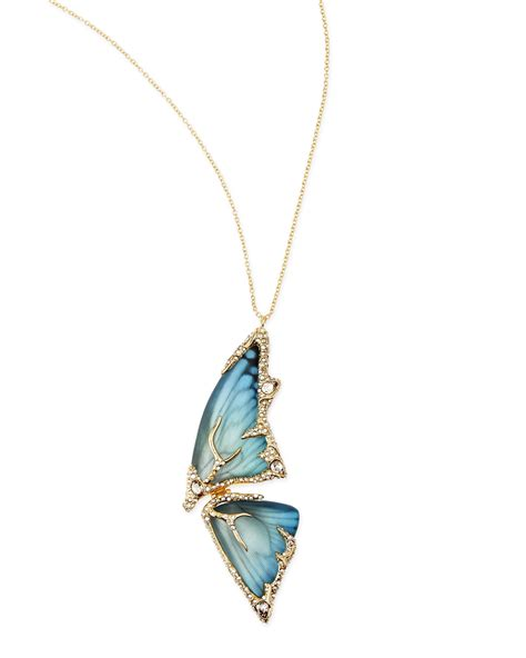 how to make butterfly wing jewelry lyst bittar pave butterfly wing pendant