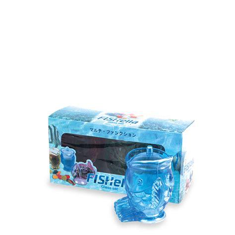 Krat Gelas Dan Botol Plastik gelas plastik ikan fishella set 3 rajaplastikindonesia