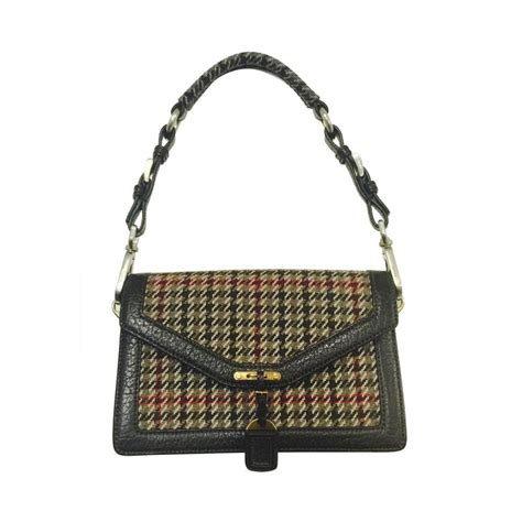 Houndstooth Shoulder Bag prada wool houndstooth and leather shoulder bag for sale