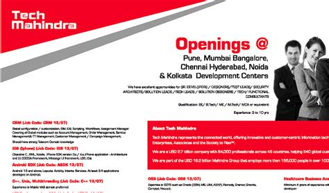 tech mahindra recruitment for freshers 2014 2014 mnc