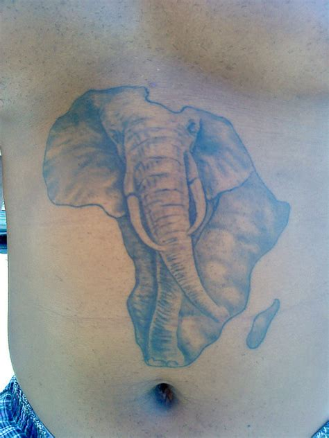 elephant tattoo on stomach african tattoos and designs page 22