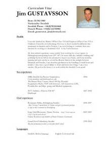 Deckhand Resume by Jimgustavsson Cv Eng 2 Page