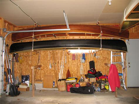 How To Hang Canoe In Garage by Canoeing