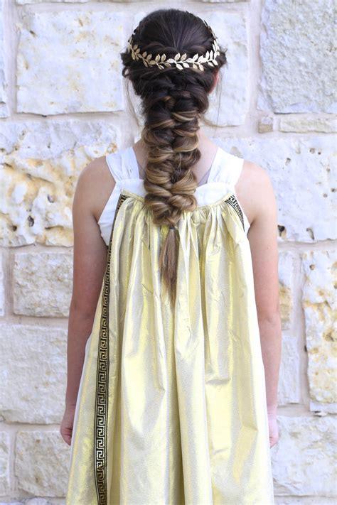 roman goddess hairstyles with braids twist faux braid halloween hairstyles cute girls