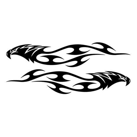 Stiker Mobil Cbu Emisi Bintang 2 15 15 3 cm pair elang api tribal stiker mobil styling