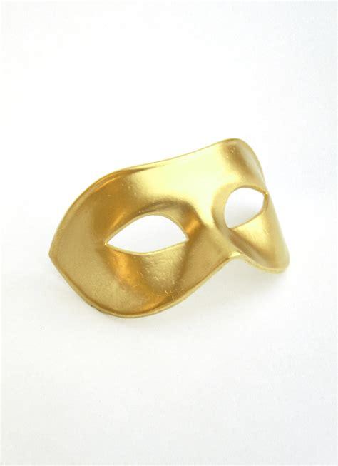 s plain gold genuine venetian masked mask
