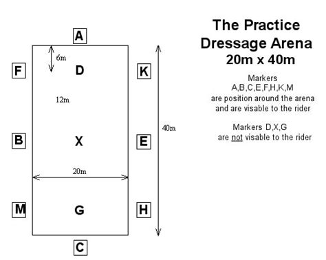 dressage arena diagram dressage layout
