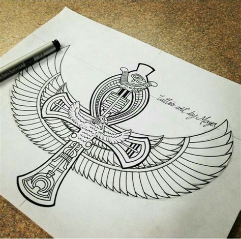 egyptian design for possible tattoo artwork tattoos