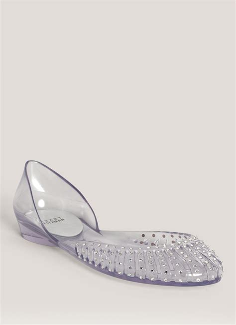 jelly shoes flats lyst stuart weitzman jealous jelly flats
