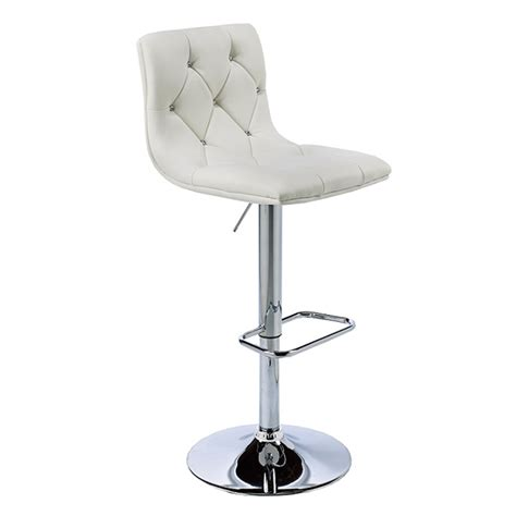 Adjustable Stool by White Leatherette Adjustable Stool Xcella