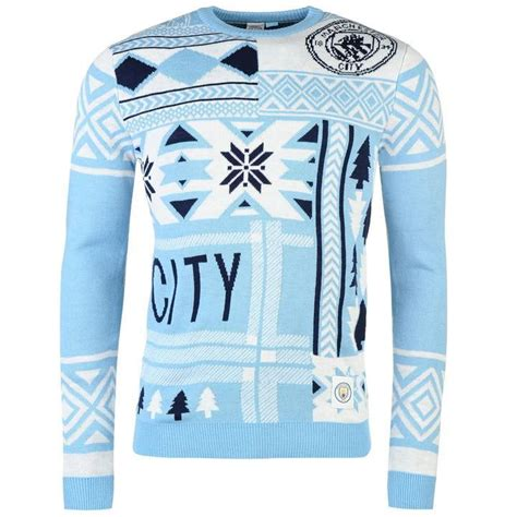 Sweater Manchester City manchester city fc jumper mens blue football